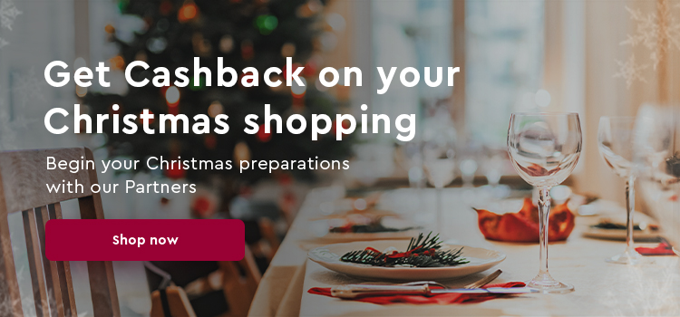 Start Christmas time with Cashback